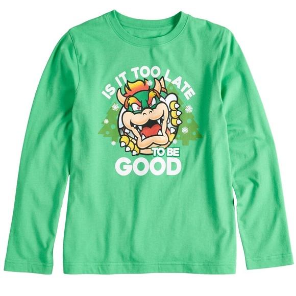 Boys Kids Official Licensed Super Mario Kart Long Sleeve T Shirt Top